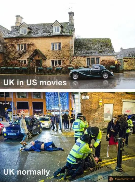 Angleterre films vs réalité
